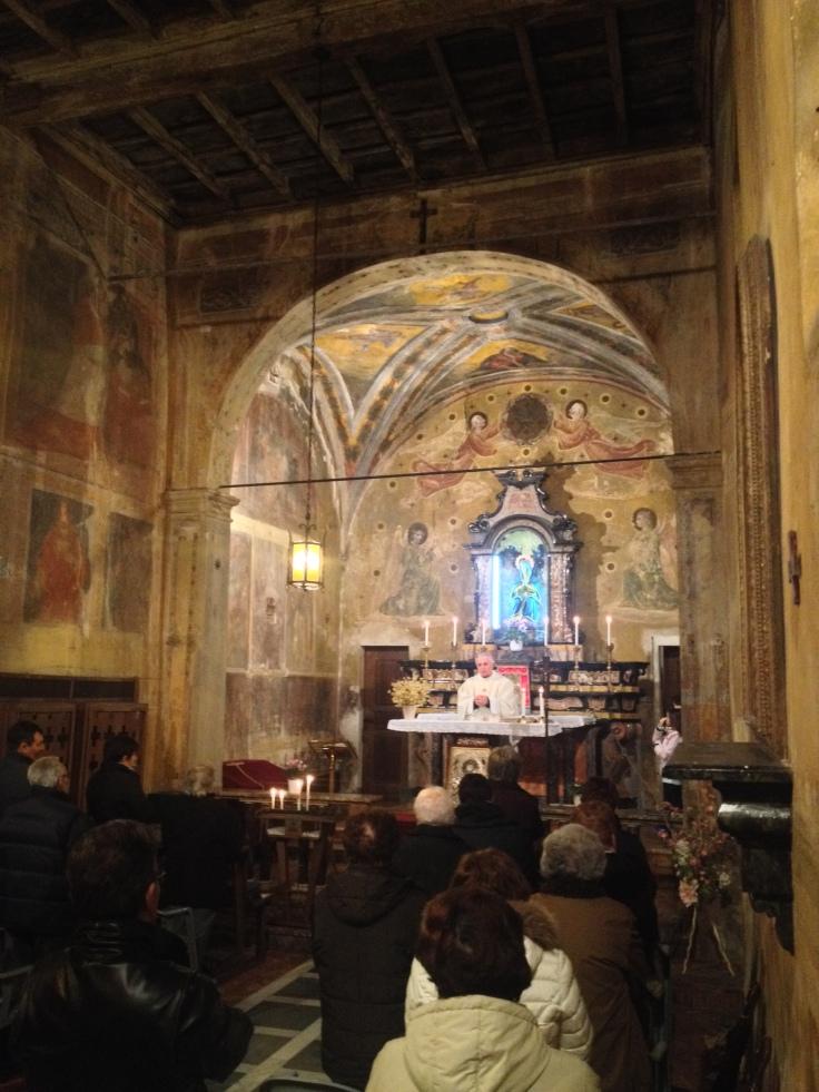 S.Antonio 17 gennaio 2014 - prima messa dopo il restauro (2)